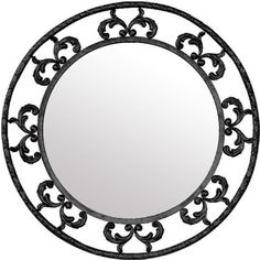 french style iron mirror round  #mycustommade