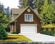 Avec sa grande fenêtre centrale et ses lucarnes en pignon de chaque côté, ce garage loft aura fière allure sur votre propriété. Le garage comprend une grande porte à l'avant, une fenêtre de chaque côté ainsi qu'une porte de service. À l'étage, le lo