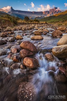 Royal Natal National Park, the amphitheater Drakensberge, South Africa by Joerg Bonner Nature Green, Wanderlust, Kwazulu Natal, Out Of Africa, Africa Travel, Places To See, South Africa, National Parks, Beautiful Places