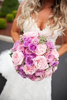 An explosion of pink petals. Photography by licensetostill.com/  Read more - http://www.stylemepretty.com/2013/08/12/washington-wedding-from-license-to-still-and-valley-co/