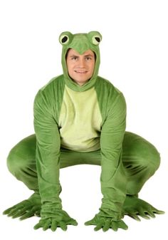 You're going to have a blast jumping from lily pad to lily pad when you wear this Adult Deluxe Frog Costume! Now you've just gotta work on that ribbit!