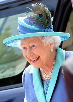 Queen Elizabeth II visits St Paul's Church on day three of a four day State Visit to Germany on June 25, 2015 in Frankfurt am Main, Germany.