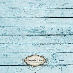 NEW ITEM 5ft x 5ft Vinyl Photography Backdrop  / Light Painted Peeling Blue Wood. $56.99, via Etsy.