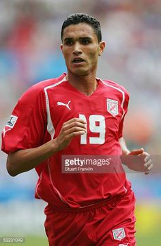 Anis Ayari of Tunisia in action during the FIFA Confederations Cup Match between Argentina and Tunisia at The Rhein Energy Stadium on June 15 2005 in...