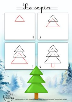 Dessin2_Comment dessiner un sapin de Noël facilement ?