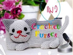 KITTEN HANDBAG...CROCHET PURSE +CHART | CrochetRibArt