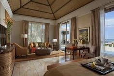 orange villa living room | the mulia hotel bali
