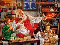Christmas in County Laois, Ireland Christmas Elf, Christmas And New Year, Vintage Christmas, Father Christmas, Christmas Ideas, Christmas Cards, Top Image, Christmas Jigsaw Puzzles, Mind Puzzles