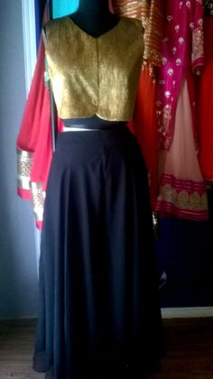 Another classic combination of both colours and silhouette #philicia #golden #black #skirt #jacket comment or message us more more information (no reference picture or re-pin,100%original picture and our own designs)