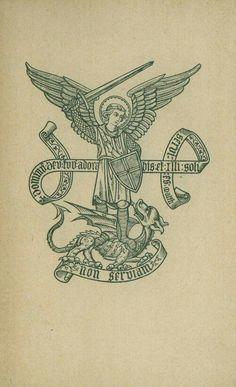 Saint Michel Terrassant le dragon, illustration Plus Kunst Tattoos, Tattoo Drawings, Body Art Tattoos, Gravure Illustration, Dragon Illustration, Engraving Illustration, Medieval Tattoo, Medieval Art, Catholic Art