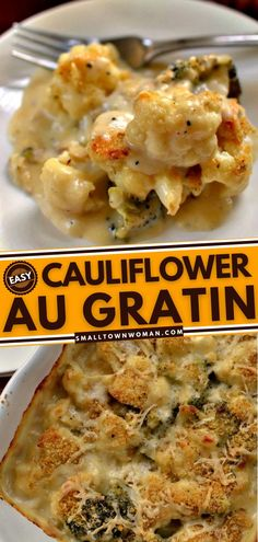 12 reviews · 65 minutes · Serves 8 · This side dish recipe is made of roasted cauliflower and broccoli in cheesy sauce sprinkled with a crumb topping. Whip up this Cauliflower Au Gratin in all its cheesy goodness for your array of side… Vegetarian Side Dishes, Vegetable Side Dishes, Vegetarian Recipes, Cooking Recipes, Healthy Recipes, Side Dish Recipes, Vegetable Recipes, Dinner Recipes, Roasted Cauliflower
