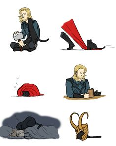 kitty brother by ~GoreChick on deviantART loki thor