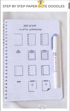 Best Bullet Journal Paper Note Doodles For Inspiration  <br> Looking for a fun way to add little notes to your bullet journal!? Check out these super cute paper note doodles and tutorials for inspiration! Bullet Journal School, Bullet Journal Paper, Bullet Journal Writing, Bullet Journal Aesthetic, Bullet Journal Inspo, Bullet Journal Numbers, Bullet Journal Ideas How To Start A, Bullet Journal Year At A Glance, Bullet Journal Dividers