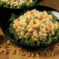 Egg & Macaroni Salad - Use this recipe with Old Fashioned Egg Salad, pinned on Veggie, Egg Salad Board; can also use colored spiral macaroni)