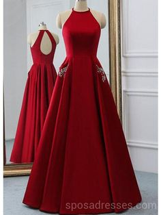 Sexy Open Back Bright Red Long Evening Prom Dresses, Cheap Custom Party Prom Dresses, 18595 Graduation Dresses Long, Senior Prom Dresses, Cheap Prom Dresses, Prom Party Dresses, Stylish Dresses, Formal Dresses, Long Dresses, Prom Dresses 2016, Prom Gowns