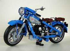 Lego Nimbus Type C Motorcycle Lego Motorbike, Micro Lego, Lego Truck, Brick Loft, Cool Lego Creations, Lego Design, Lego Technic, Christmas And New Year, Legos