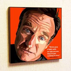 Robin Williams Pop Art Home Decor Wall Art by TheGalleryPopArt