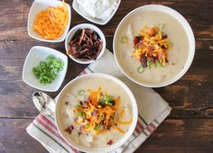Slow Cooker Loaded Baked Potato Soup www.thechicsite.com