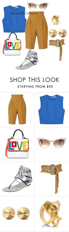 """""""Untitled #69"""" by saintcatherine ❤ liked on Polyvore featuring Emilia Wickstead, Alice + Olivia, Les Petits Joueurs, Gucci, René Caovilla, Eddie Borgo and Tory Burch"""
