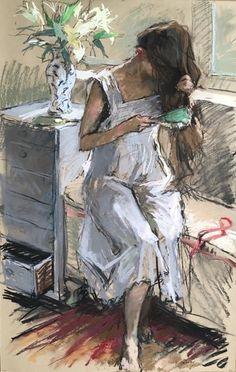 The Girl Brushing her Hair