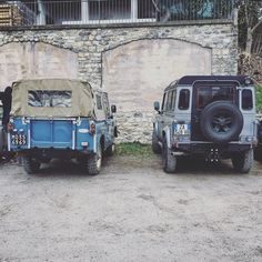 The old one and the new one  #landroverdefender #defenderpickup #defender90 #landrover #landlovers #mylandy by fioccodinneve The old one and the new one  #landroverdefender #defenderpickup #defender90 #landrover #landlovers #mylandy