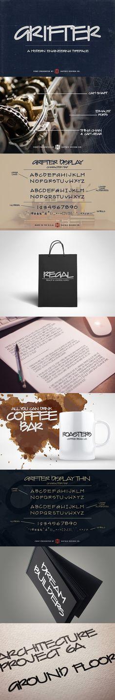 Grifter Modern Engineer Font (SALE). Display Fonts