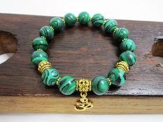 Malachite Bracelet, Heart Chakra Malachite Bracelet Protection Bracelet Love Malachite Bracelet Capricorn Malachite Bracelet Yoga Meditation