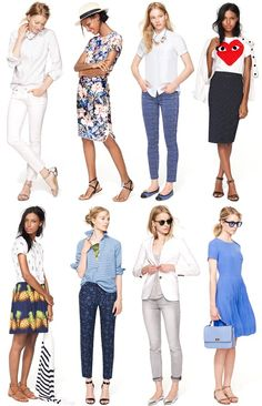 Inspired: J.Crew {red white + blue} love the dress Preppy Mode, Preppy Style, My Style, Tween Fashion, Latest Fashion For Women, Fashion Outfits, Tween Mode, Moda Formal, Short Beach Dresses