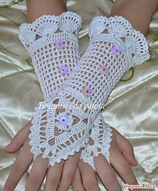 Irish crochet &: митенки