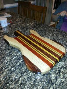 guitar shaped cutting board!