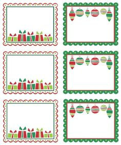 Planche Noël vert et rouge.