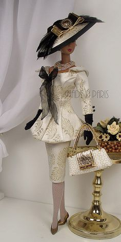 "*MADE IN PARIS* ""Rhapsody in Gold"" For Silkstone Barbie by MADEinPARIS, via Flickr"
