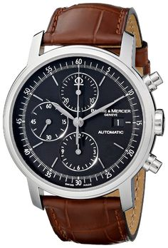 men watches Best luxury watches for men Baume & Mercier Men's MOA08589 Classima Executive Analog Display Swiss Automatic Brown Watch