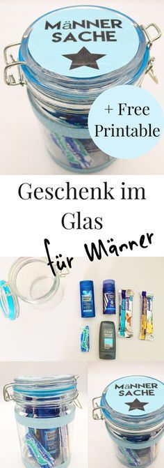 Schöne DIY Geschenkideen für Männer: Geschenke im Glas! Schöne Idee für den Geburtstag zum selber machen für den Mann. DIY Geschenke im Glas zum selbst zusammen stellen.