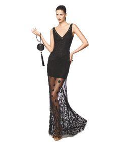 NELA - Vestido con falda larga con transparencia. Pronovias 2015   Pronovias