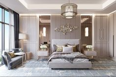 49 Lovely Classical Bedroom Interior Design - 2020 Home design Modern Luxury Bedroom, Luxury Bedroom Design, Master Bedroom Interior, Modern Master Bedroom, Master Bedroom Design, Luxurious Bedrooms, Home Decor Bedroom, Interior Design, Modern Classic Bedroom