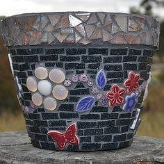 Mosaic Garden Pot by www.specialtyartglass.com.au, via Flickr