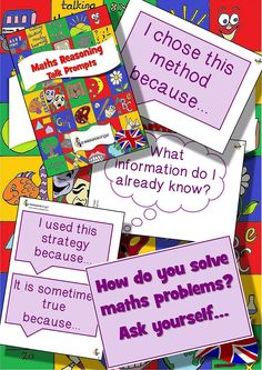 Maths Reasoning Talk Prompts. The way forward for talking in maths to solve problems and reason how it should be done!