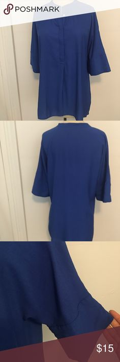 Blue Banana Republic blouse Rosy bright blue shirt. Viscose and polyester mix. Very fitting for the summer. Tuck it in with some cute shorts or wear with boyfriend jeans. it's an xs but it's suppose to be loose. Banana Republic Tops Blouses