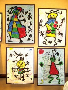 My fav artist to do in January for wishes and dreams unit First Grade Joan Miro