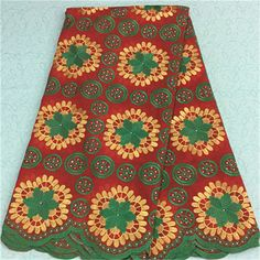 stocks cotton african lace fabrics YP-PL14