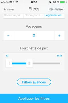 airbnb App Filter Filtre
