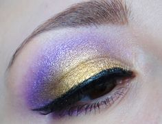 Tangled/Rapunzel purple and gold eyes