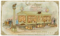Chicago History Museum Research Center (Image: Swift and Company Postcard, 1893)