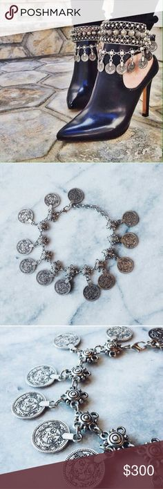 Jewelry | Boho coin anklet AND bracelet Boho silver coin bracelet and anklet- all in one! You can wear this as an anklet one day and a bracelet the next- or get 2 & wear both ways at once! This listing is for the COIN STYLE shown in every photo // also av