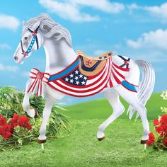 Patriotic Americana Horse Yard Decoration