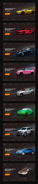 Дизайн главной страницы сайта для автосервисапо оклейки автомобилей Wrapex.