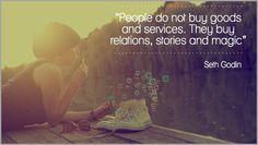They buy relations, stories & magic- Seth Godin Social Web, Social Media, Storytelling Quotes, Top Entrepreneurs, Online Resume, Seth Godin, Hero's Journey, Free Advice, Emotional Intelligence