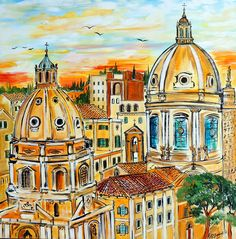 Paintings of Rome, Europe, travel art