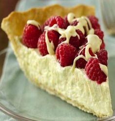 White Chocolate-Raspberry Pie. Does anyone love me enough to make this & let me eat the entire pie??